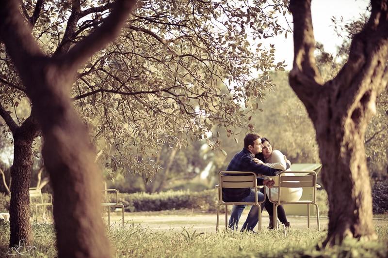 """תמונת זוג אינטימית. צולם באורך מוקד 85 מ""""מ"""